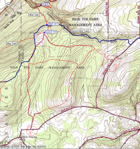 High Tor trails from Basset and Brink Hill Roads